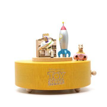 新品jeancard木质音乐盒火箭巴斯八音盒玩具总动员六一儿童节礼物
