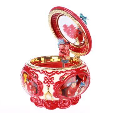 Jarll赞尔陶瓷旋转八音盒音乐盒创意结婚庆礼物送老婆古典你汉唐中式