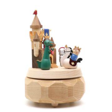 Jeancard台湾木质旋转冒险城堡八音盒音乐盒创意生日礼物送男女生