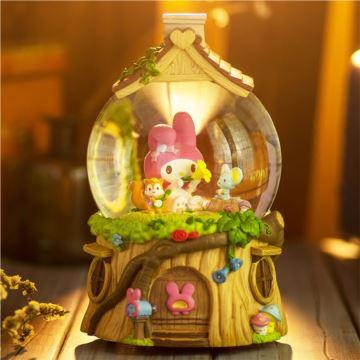Jarll赞尔旋转自喷亮片雪花带灯水晶球八音盒音乐盒创意生日儿童节礼物