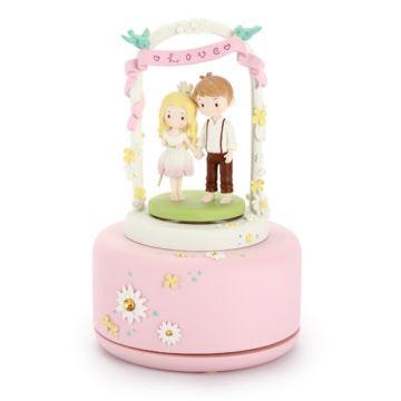 男孩女孩旋转八音盒音乐盒七夕情人节创意结婚礼物送老婆男女友