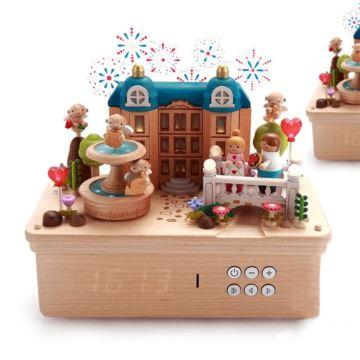 Jeancard木质别墅烟火八音盒音乐盒创意生日情人节结婚礼物送老婆男女生