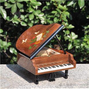 雷曼士30音木质钢琴八音盒音乐首饰盒Y30M8E高档创意送女生日礼物可定制