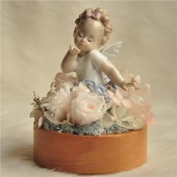 永生花芭蕾小天使旋转八音盒音乐盒创意生日礼物送女生宝宝诞生