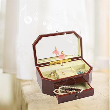 旋转芭蕾舞跳舞木质八音盒音乐盒珠宝首饰盒创意生日结婚礼物送妈妈女生