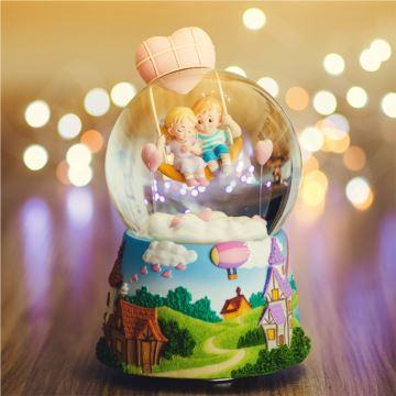 jarll水晶球音乐盒八音盒女生儿童情侣生日创意礼物怦然心动雪花