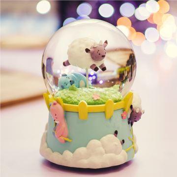 Jarll赞尔旋转带雪花水晶球八音盒音乐盒创意生日儿童节礼物送男女生