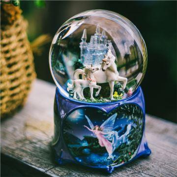 Jarll赞尔带灯许愿城堡水晶球八音盒音乐盒创意生日结婚礼物送男女生老婆黄晓明Baby梦幻城堡同款