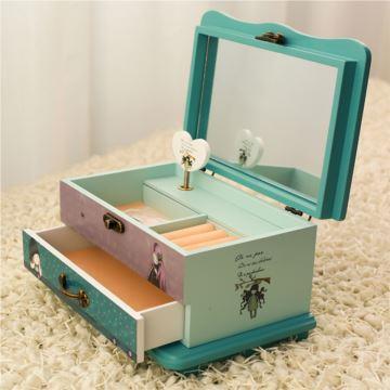 ILOVEST木质首饰盒八音盒音乐盒天空之城创意生日情人节礼物送女生
