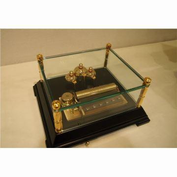 瑞士原装御爵REUGE72音木底座玻璃八音盒音乐盒生日商务创意礼物精品