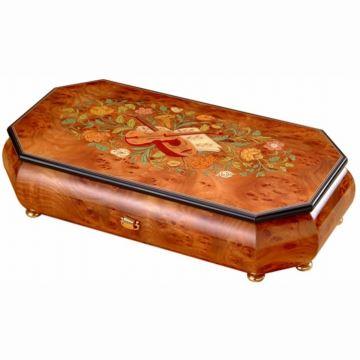 日本进口Sankyo72音木质首饰盒八音盒音乐盒创意生日结婚礼物送老婆女生