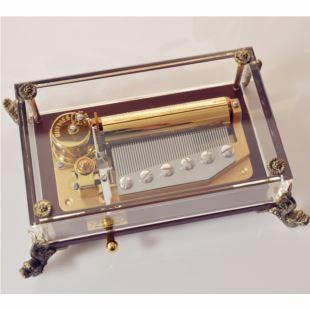 雷曼士50音水晶音乐盒八音盒Y50LC1创意商务送女生日领导礼物精品大气