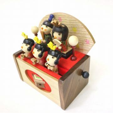 日本进口Sankyo木质摇摆娃娃八音盒音乐盒创意生日圣诞节儿童节礼物