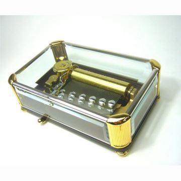 日本进口Sankyo50音玻璃八音盒音乐盒创意生日商务礼品送老公男生精品