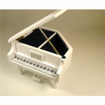 日本进口Sankyo18音木质钢琴八音盒音乐盒创意生日结婚礼物送男女生