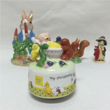 ILOVEST陶瓷婴儿旋转八音盒音乐盒创意生日圣诞节宝宝诞辰礼物