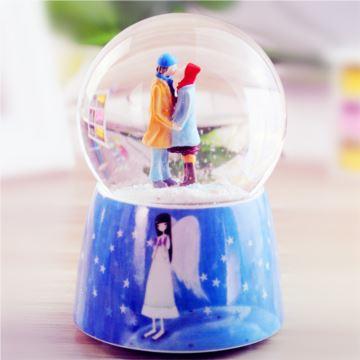 ILOVEST飘雪花水晶球八音盒音乐盒创意生日七夕情人节礼物送男女生