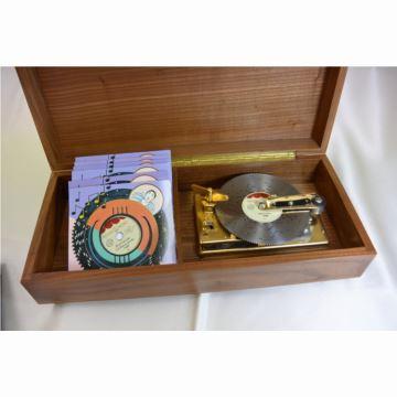 瑞士原装御爵REUGECD唱片唱盘八音盒音乐盒创意生日结婚礼物送男女生