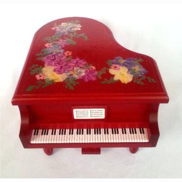 日本进口Sankyo18音木质钢琴八音盒音乐盒卡农创意生日礼物送男女生