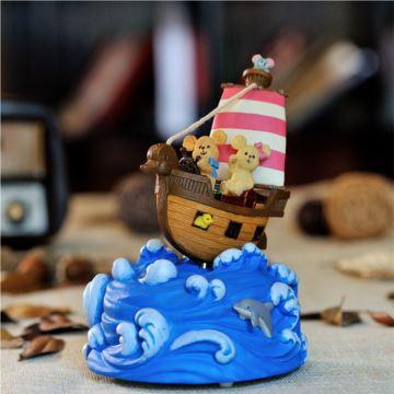 JARLL赞尔追梦起航摇摆帆船八音盒音乐盒创意生日礼物儿童节礼品送男女