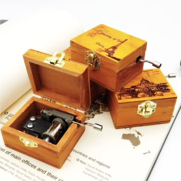 ILOVEST复古手摇八音盒音乐盒天空之城创意生日礼物送男女生女友闺蜜