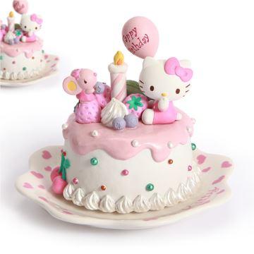 Jarll赞尔Hellokitty蛋糕八音盒音乐盒创意生日礼物送女生女孩儿童