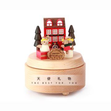 台湾Jeancard枫木天使旋转八音盒音乐盒创意生日圣诞节礼物送男女生