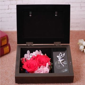玫瑰永生花相框八音盒音乐盒天空之城创意生日结婚情人节圣诞节礼物