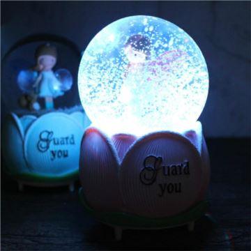 ILOVEST飘雪花发光水晶球八音盒音乐盒创意生日结婚圣诞节礼物送男女