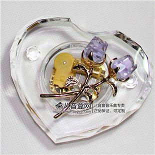 韵升正品18音紫色水晶玫瑰八音盒音乐盒 天空之城卡农YM3C38RB