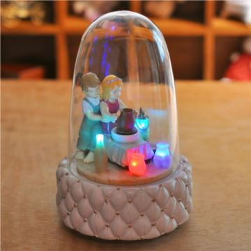 带灯发光七彩灯旋转玻璃球八音盒音乐盒创意生日情人节礼物浪漫送女生