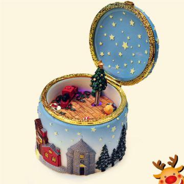 发光旋转麋鹿圣诞树八音盒音乐盒创意生日情人节礼物送男女生闺蜜特别