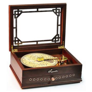 日本进口Sankyo20音木质唱盘式八音盒音乐盒创意生日情人节礼物送男女