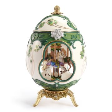 Jarll赞尔蛋雕旋转木马八音盒音乐盒创意生日情人节礼物结婚纪念品