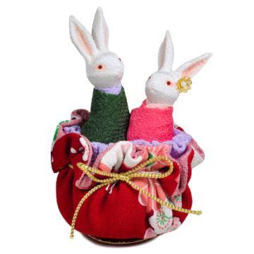 日本小樽陶瓷和服兔子旋转八音盒音乐盒创意生日情人节结婚礼物特别