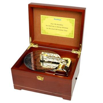 日本sankyo22音唱片唱盘八音盒音乐盒创意生日情人节礼物特别多个曲子