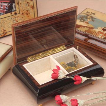 18音首饰盒八音盒意大利手工实木贴皮创意生日结婚情人节礼物送女生
