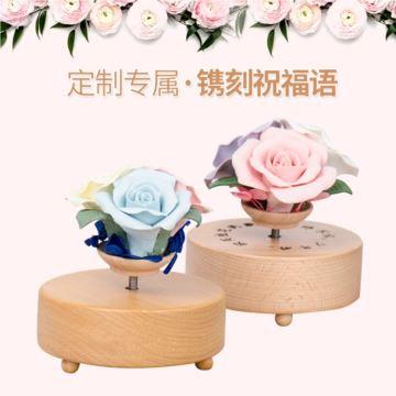 天空之城旋转音乐盒欧式木质DIY八音盒创意儿童女生生日毕业礼物