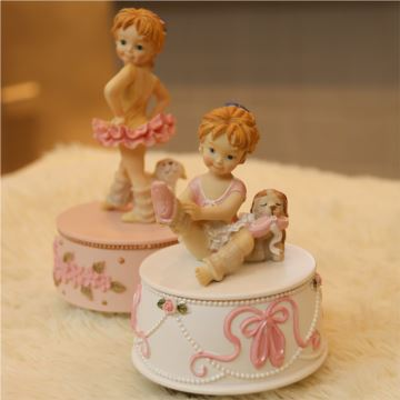 ILOVEST18音旋转芭蕾舞天鹅湖女孩八音盒音乐盒创意生日儿童节礼物送男女