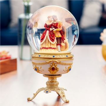 JARLL赞尔巴洛克真爱永相随水晶球音乐盒八音盒创意结婚情人节礼物