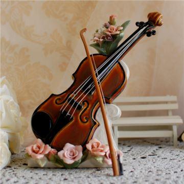 美国COSMOS陶瓷小提琴八音盒音乐盒创意生日情人节礼物送男女生特别