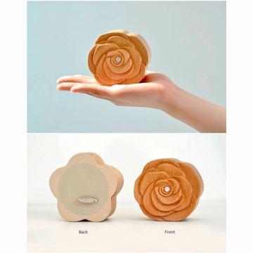 实木木质玫瑰花八音盒音乐盒天空之城创意生日七夕情人节礼物送男女生