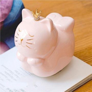 陶瓷旋转猫咪八音盒音乐盒天空之城创意生日情人节礼物送男女生