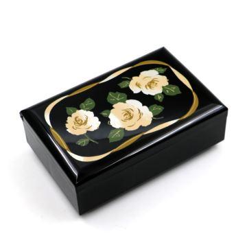 日本原装进口木质八音盒音乐盒首饰盒创意结婚情人节礼物送女生