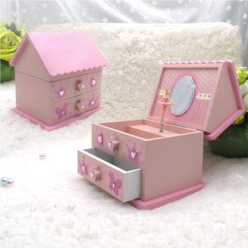 ILOVEST木质旋转芭蕾舞女孩首饰盒八音盒音乐盒创意生日礼物送女生闺蜜