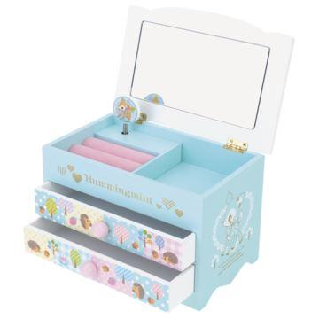 香港正版melody Hummingmint旋转八音盒音乐盒首饰盒创意生日情人节礼物送女生