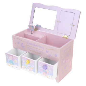 香港正版双子星少女旋转八音盒音乐盒首饰盒创意生日情人节礼物送女生