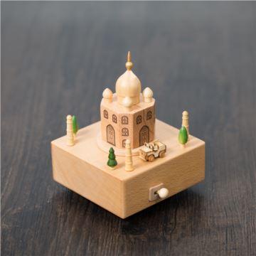DIY刻字木质旋转汽车城堡八音盒音乐盒创意生日情人节礼物送男女生