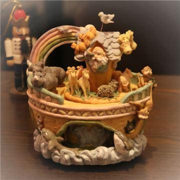 ILOVEST动物王国旋转八音盒音乐盒天空之城创意生日圣诞节礼物送男女生