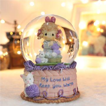 旋转女孩水晶球八音盒音乐盒天空之城创意生日毕业纪念品创意礼物送女生